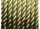 saténová šnůrka - kroucená  (zlatá)