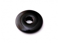 skleněný donut černý