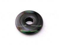 skleněný donut černý, zeleně mapovaný