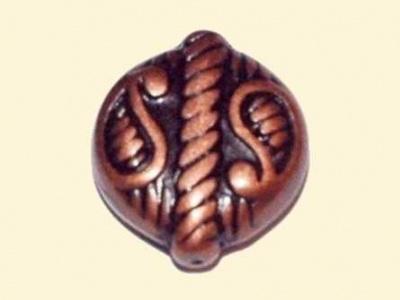 korálek pokov-měď placička
