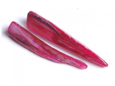 perleťový zub - fuchsiový (balení 10 ks)