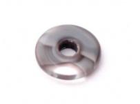 skleněný donut šedý, poloprůhledný