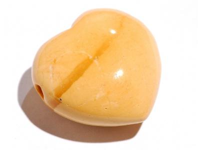 přívěšek buclaté srdíčko z kamene