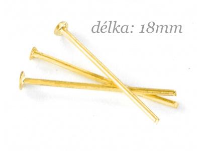 ketlovací nýt  18mm - zlatý