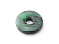 skleněný donut zelená, žíhaná