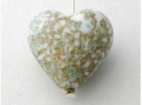 přívěšek srdíčko-vinutka, imitace kamene