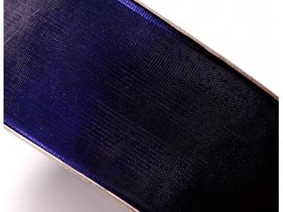 stužka šifónová - tm. modrá