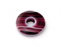 skleněný donut fialový, žíhaný