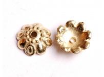 kaplík - zlatý, na korálek 1 cm
