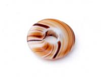 skleněný donut různě žíhaný, každý jiný