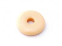 skleněný donut bílá káva