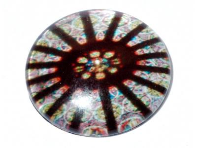 skleněný kabošon s motivem