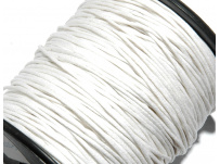 voskovaná šnůrka - bílá