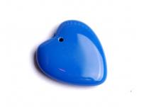 mačkaný korálek - modré srdíčko