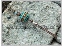 náhrdelník - obšívaný korálek
