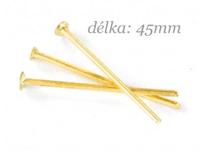 ketlovací nýt 45mm - zlatý