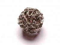 drátěný korálek - starostříbro