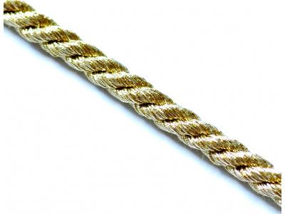 zlatá kroucená šňůrka (50cm)