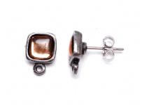 náušnice s kamínkem + křidýlka