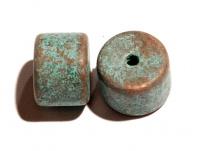 keramický korálek - krátký váleček