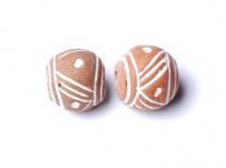 keramický korálek, malý, ruční výroba
