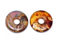 skleněný donut - travertýn