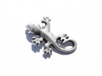 kovový přívěšek - ještěrka