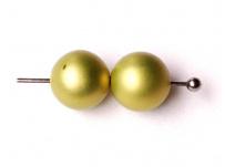 vosk. perly - matná oliva