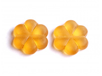 korálek žlutá kytička