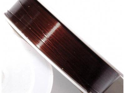 drát 0,5mm; tmavě hnědý