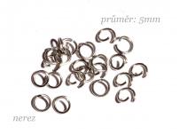 spoj. kroužek 5mm  - NEREZ ocel