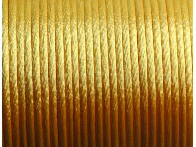saténová šnůrka - sytě žlutá