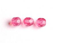 korálek broušený růžová