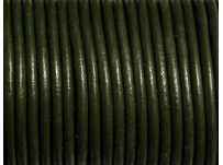 kulatá kůže zelená, 3mm
